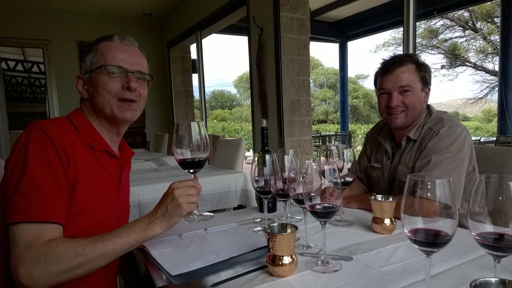 De proeverij met wijnmaker Thibaut Delamotte.